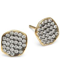 Tai - Pave Stud Earrings - Lyst