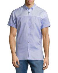 Calvin Klein - Colorblock Cotton Button-down Shirt - Lyst