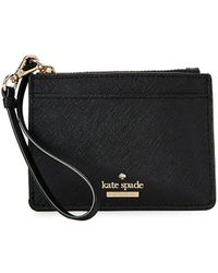 Kate Spade - Textured Leather Wristlet - Lyst