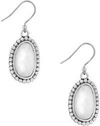 Lucky Brand California Gardens Faux Mother-of-pearl Drop Earrings - Metallic