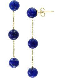 Effy 14k Yellow Gold & Lapis Lazuli Drop Earrings - Blue