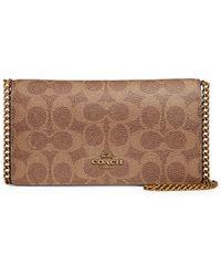 COACH Colorblock Signature Canvas & Leather Convertible Belt Bag - Brown