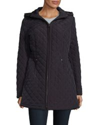 Laundry by Shelli Segal - Faux Fur-trimmed Quilted Jacket - Lyst