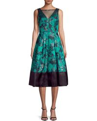Decode 1.8 - Printed Brocade Fit-&-flare Dress - Lyst