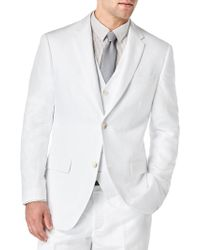 Perry Ellis - Linen-blend Jacket - Lyst