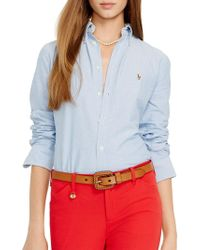 Polo Ralph Lauren - Custom Fit Washed Oxford Shirt - Lyst