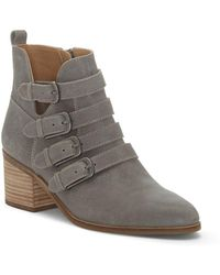 Lucky Brand - Loreniah Leather Booties - Lyst