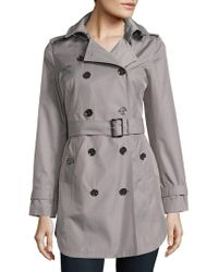 Michael Kors - Petite Cotton-blend Double-breasted Trench Coat - Lyst