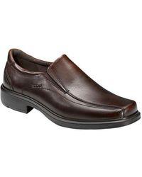 Ecco Helsinki Slip-on Leather Loafers - Brown