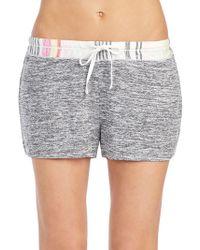 Kensie - Marled Drawstring Shorts - Lyst