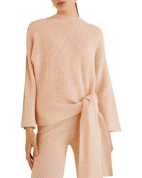 Mango - Knotted Front Jumper - Lyst