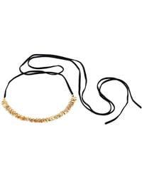 Danielle Nicole Blossom 14k Imitation Goldplated Choker Necklace - Black