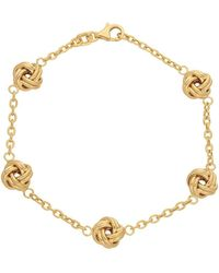 Lord + Taylor - 14k Yellow Gold Knot Chain Bracelet - Lyst