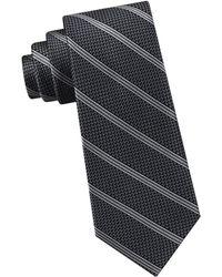 Michael Kors - Fine Line Grenadine Striped Silk Tie - Lyst
