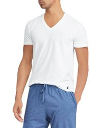Polo Ralph Lauren - Three-pack V-neck Cotton Classic-fit Tees - Lyst