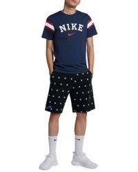 Nike - Star-print Drawstring Shorts - Lyst