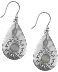 Lucky Brand - Floral Tribes Silvertone And Crystal Drop Earrings - Lyst