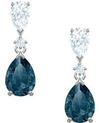 Swarovski Vintage Crystal Drop Earrings - Metallic