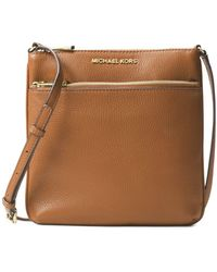 6e357b0f77880 MICHAEL Michael Kors - Bedford Small Flat Leather Crossbody Bag - Lyst
