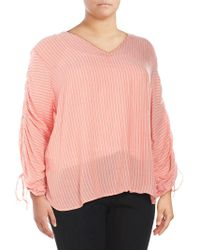 Jessica Simpson - Plus Miller Striped Blouse - Lyst