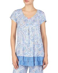 Ellen Tracy - Printed Short-sleeve Pajama Top - Lyst