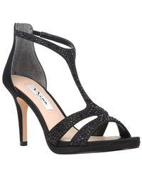 Nina - Brietta Leather T-strap Sandals - Lyst