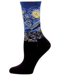 Hot Sox Starry Night Trouser Socks - Black