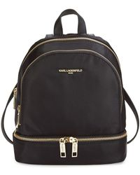 Karl Lagerfeld - Classic Zippered Backpack - Lyst
