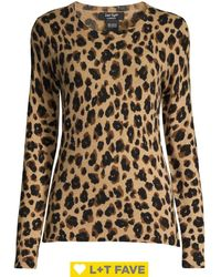 Lord + Taylor Animal Print Cashmere Jumper - Multicolour