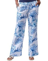 Tommy Bahama - Tulum Tropical Linen Wide-leg Trousers - Lyst