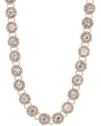 Anne Klein - Crystal Collared Necklace - Lyst