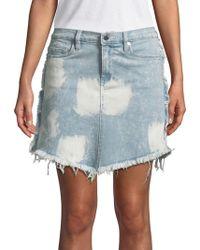 Blank NYC - Acid Wash Denim Skirt - Lyst