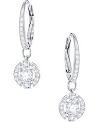 Swarovski - Sparkling Dance Crystal Studded Hoop Earrings - Lyst