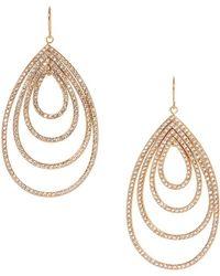 Vince Camuto Crystal Gypsy Hoop Drop Earrings - Metallic