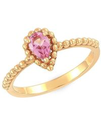 Lord + Taylor 14k Yellow Gold And Pear-shape Pink Amethyst Ring - Metallic