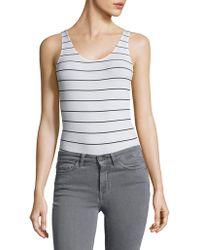 DKNY - Scoopneck Rib-knit Bodysuit - Lyst
