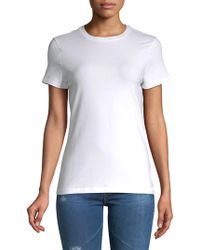 Lord & Taylor - Short-sleeve Essential Crew Neck Tee - Lyst