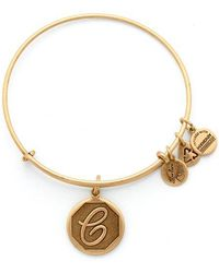 ALEX AND ANI - Initial C Charm Bangle - Lyst