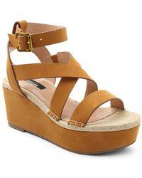 Kensie - Trinity Ankle-strap Platform Sandals - Lyst