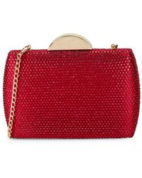 Nina Pacey Embellished Minaudiere - Red