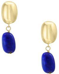 Effy Lapis And 14k Yellow Gold Earrings - Metallic