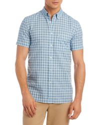 Lacoste - Chequered Slim-fit Button-down Shirt - Lyst