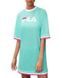 Fila - Logo Mesh Dress - Lyst
