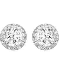 Swarovski Angelic Faceted Crystal Bezel Earrings - Metallic