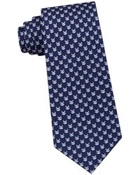 Lord & Taylor - Fox Printed Silk Tie - Lyst