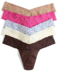 Hanky Panky - Low Rise Thong 5-pack - Lyst