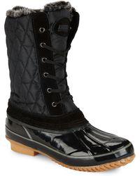 Khombu - Bridget Faux Fur-trimmed Duck Boots - Lyst