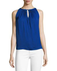 Vince Camuto - Topic Heat Rumpled Keyhole Blouse - Lyst