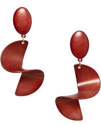 Mango - Camden Spiral Drop Earrings - Lyst