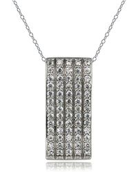 Lord & Taylor - Sterling Silver Pendant Necklace - Lyst